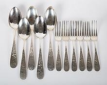 Hennegen & Bates sterling silver flatware