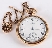 A Waltham Pocket Watch & Chain