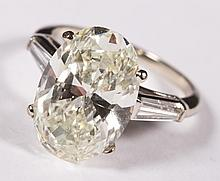 A 5.97 ct Lady's Oval Diamond Ring