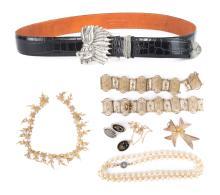 Vintage Jewelry & a Sterling Silver Belt Buckle