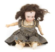 Recknagel bisque, composition and wood doll