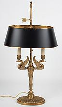 French Empire style brass bouillotte lamp