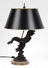 Contemporary eagle figural lamp
