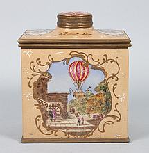 Georgian style porcelain tea caddy
