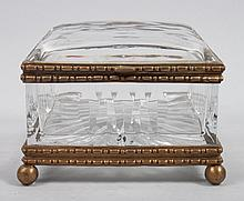 Continental style gilt-metal-mounted dresser box