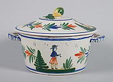 Hubaudiere Quimper covered serving dish