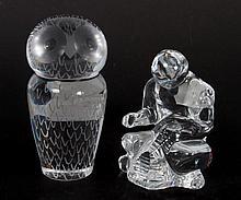 Two Swedish glass figures