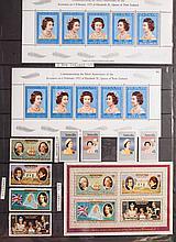 Five stockbooks: worldwide postage stamps