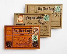 Three early German airmail cards, June, 1912