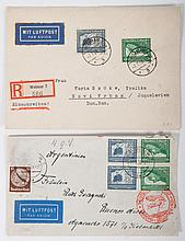 Two German airmail covers, 1938