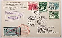 Austrian Graf Zeppelin card, September, 1931