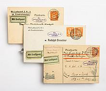 German LZ126 cover and two cards: September, 1924