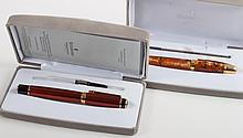Waterford fountain pen and roller ball pen