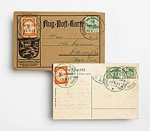 Two early German airmail cards, June, 1912
