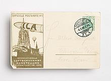Zeppelin-theme air show card, Frankfurt, 1909