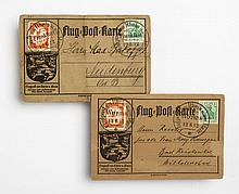 Two early German airmail cards, June 12, 1912
