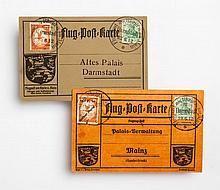 Two early German airmail covers, Darmstadt, 1912
