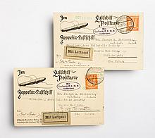 Two German LZ126 cards: Sept., 1924