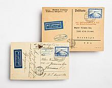 Two German Graf Zeppelin cards, October, 1930