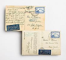 Two German Graf Zeppelin cards, 1928