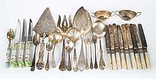 American sterling silver flatware & serving pieces
