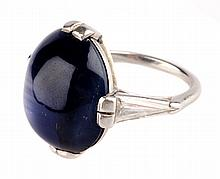 A Spectacular Star Sapphire Ring in Platinum