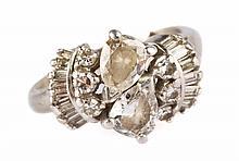 An Art Deco Diamond Ring in Platinum
