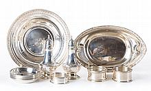 Assorted American sterling small table articles
