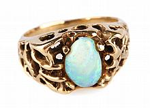 An Opal Ring in Gold