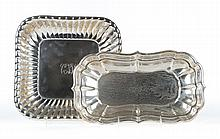Reed & Barton sterling bread tray & reeded dish