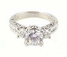 A Lady's Platinum Tacori Ring