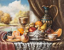 Karoly Reinprecht. Still Life, oil on canvas