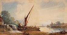 William Earp. Coastal Landscape, watercolor