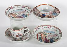 Six pieces of Chinese Export porcelain teaware