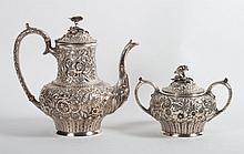 Jacobi & Jenkins sterling coffee pot & sugar bowl