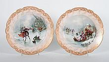Pair of German porcelain cabinet plates