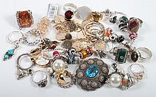 Bag of silver and costume jewelry