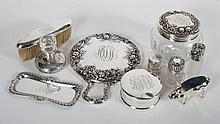 American & continental sterling dresser items