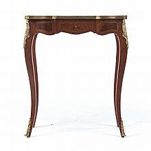 Louis XV style parquetry inlaid side table