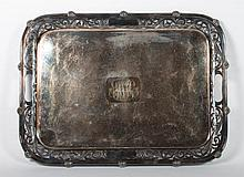 Sheffield silver-plated service tray