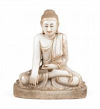 Indian carved alabaster Buddha
