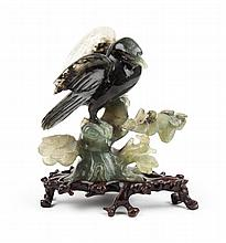Chinese carved jade bird figure