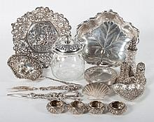 Group of American sterling silver table articles