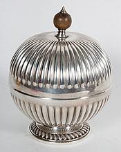 English silver-plated etrog box