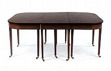 Regency ebony inlaid banquet table
