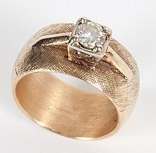 14K gold & diamond wedding band