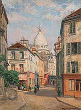 Charles Martin-Sauviago. Montmartre, oil on board