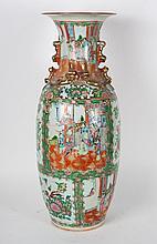 Chinese Export Rose Medallion porcelain vase