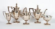 Jenkins & Jenkins sterling 5-piece coffee/tea set