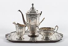 Reed & Barton sterling 3-piece coffee set & tray